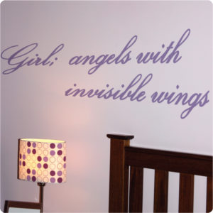 Girl definition quote removable wall sticker