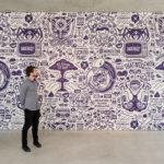 custom wall mural Cohen Gum