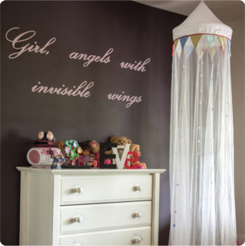 Girl definition removable wall stickers in a girls bedroom
