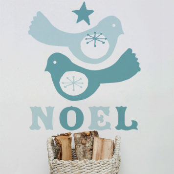 Birdie Noel Christmas wall sticker by Printspace
