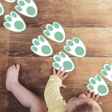Bunny paws removable wall stickers
