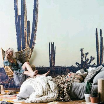 Cactus mural