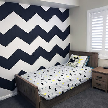 Chevron removable wallpaper in black and white