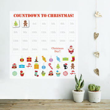 Christmas Advent Calendar wall sticker