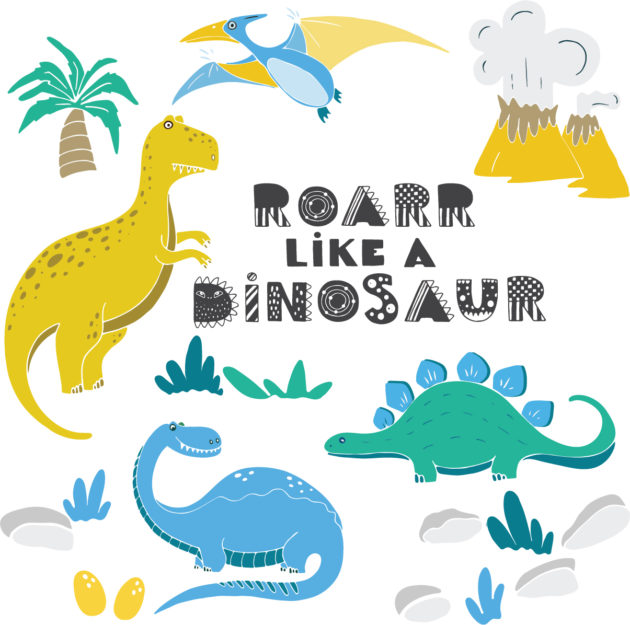 Dinosaurs wall stickers image