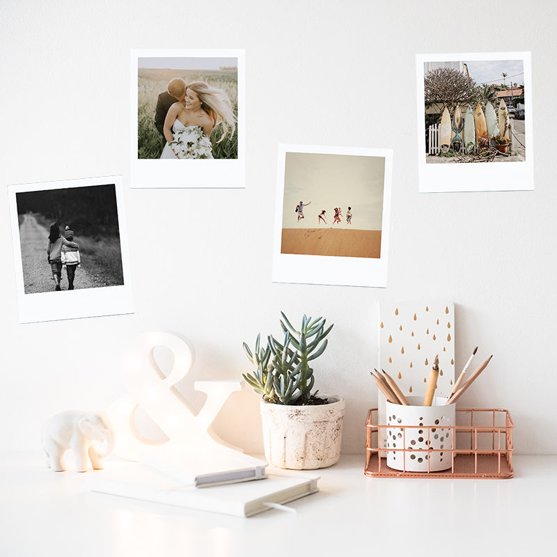 Happy Snaps wall stickers with Polaroid style photos