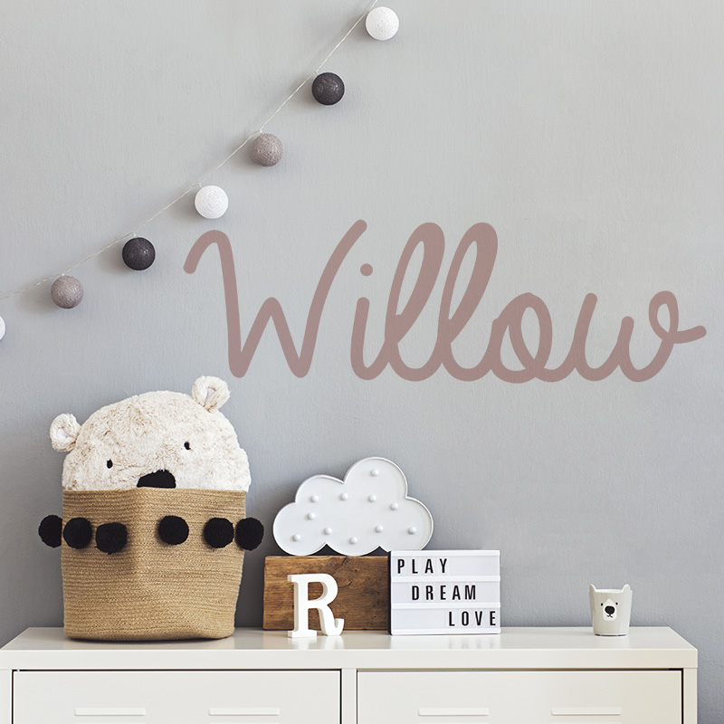 Name Willow as a wall sticker