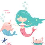Mermaids close up