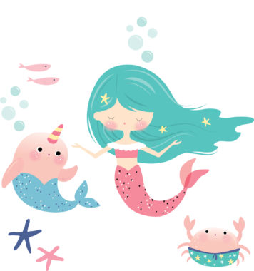 Mermaids wall stickers