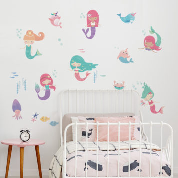 Mermaids removable wall stickers