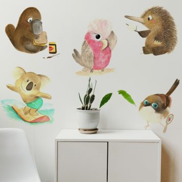 Native Animals removable wall stickers