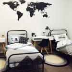 World Map wall stickers in the Pearce home