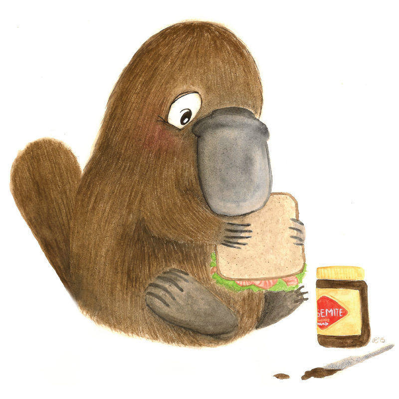 Paul the platypus removable wall sticker