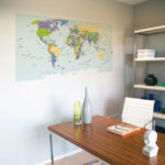 world map poster carlisle homes lifestyle