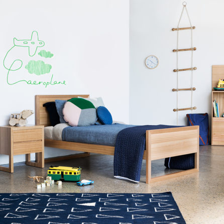 Aeroplane wall sticker in Green Lilly and Lolly