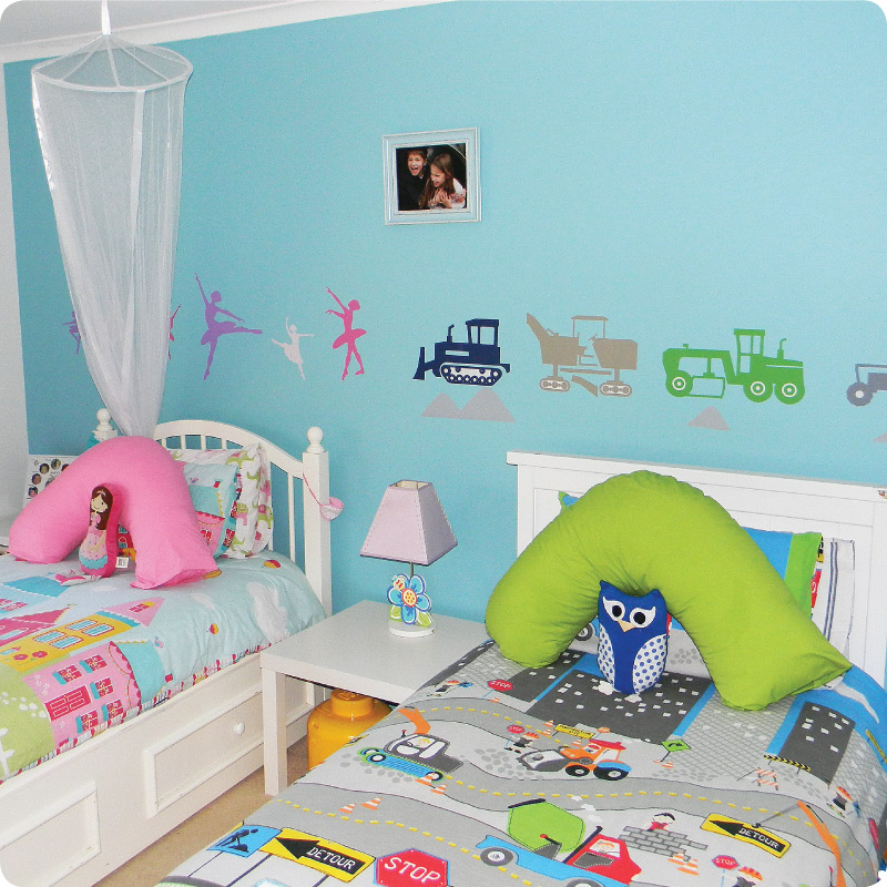 Trucks Removable Wall Stickers for boys and girls' room