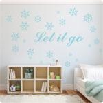 Let It Go wall sticker in Ice Mint