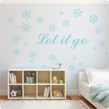 Frozen Removable Wall Stickers with a cabinet and bed in front