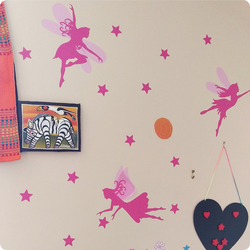 Pretty Fairies Removable Wall Stickers in Melisa Ross home