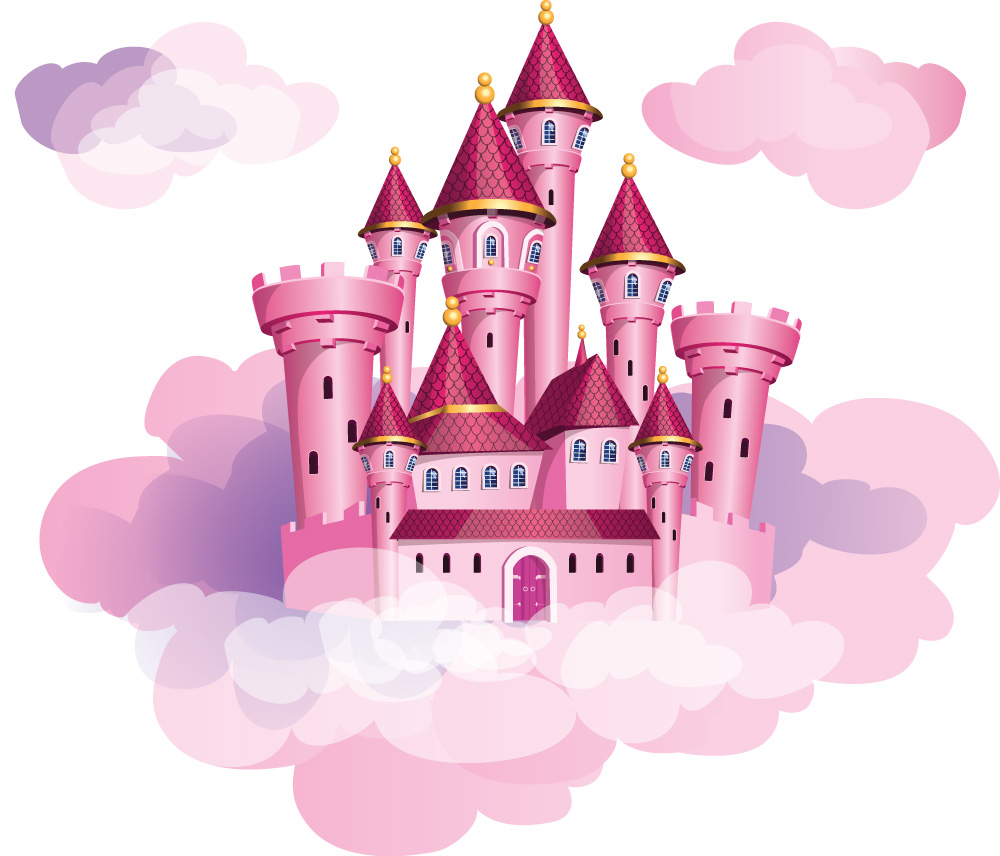 Princess Castle in the clouds wall sticker