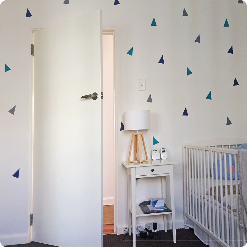 Triangle removable wall stickers decals in child's room