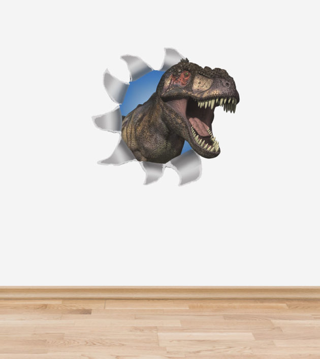 T-Rex wall decal measures 56cm high x 60cm wide