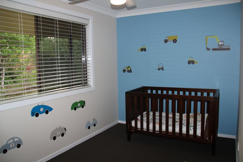 Cars and Dozers removable wall sticker in the Houghton kid's room