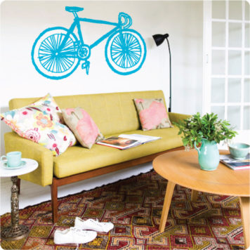 Fixy removable wall stickers by Curio & Curio in a living room