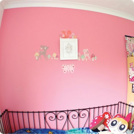 Forest Critters removable wall stickers by Cocoon Couture in kid's room