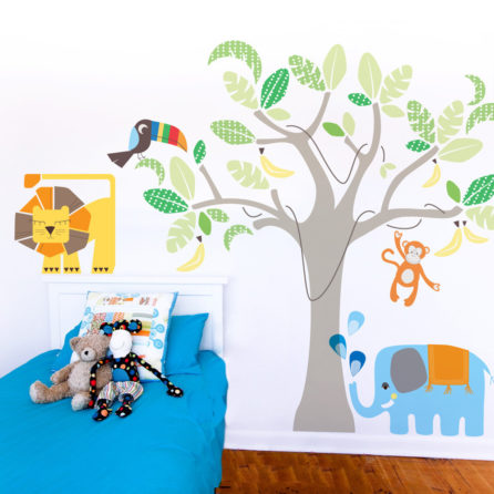 Cocoon Couture's Jungle Land looks great in a child's bedroom|Jungle Land with business owners Jen and Fi|Cocoon Couture's Jungle Land in the Muscatello home In the Burke home