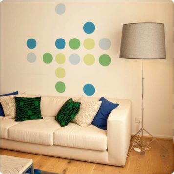 Dots Midi removable wall sticker in living room