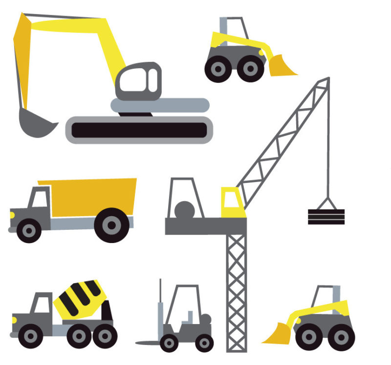 Dozers removale wall stickers for boys rooms