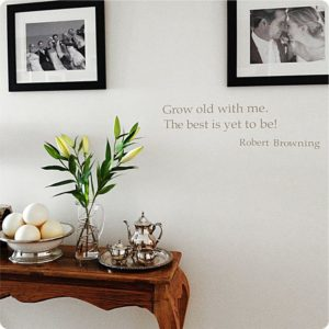 Grow Old quote removable wall sticker in the Carlisle home