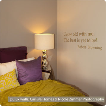 Grow Old quote removable wall sticker in a bedroom