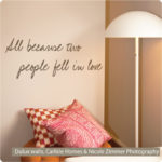 """In love quote in mica in a """"Carlisle Home"""" by Zimmer Photography"""