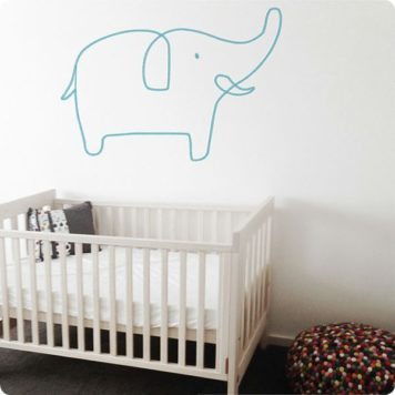 Sophie the elephant removable wall stickers by Jane Reiseger