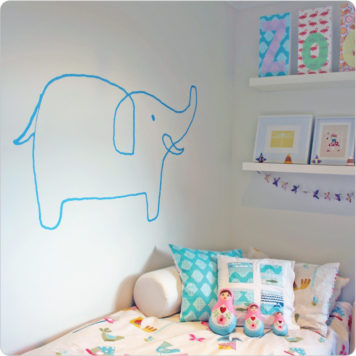 Sophie The Elephant Removable Wall Stickers in a child's room