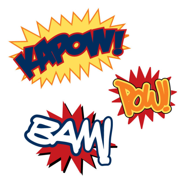 Contents of Kapow Kapow wall sticker is cool for a child or teen's room
