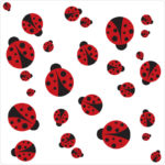 Ladybugs wall stickers bring colour and fun into any room
