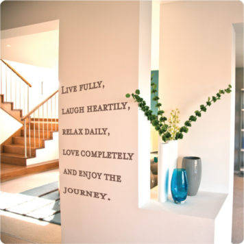 Live quote removable wall sticker in the Carlisle home