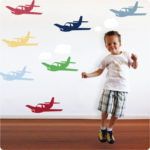Planes removable wall decals