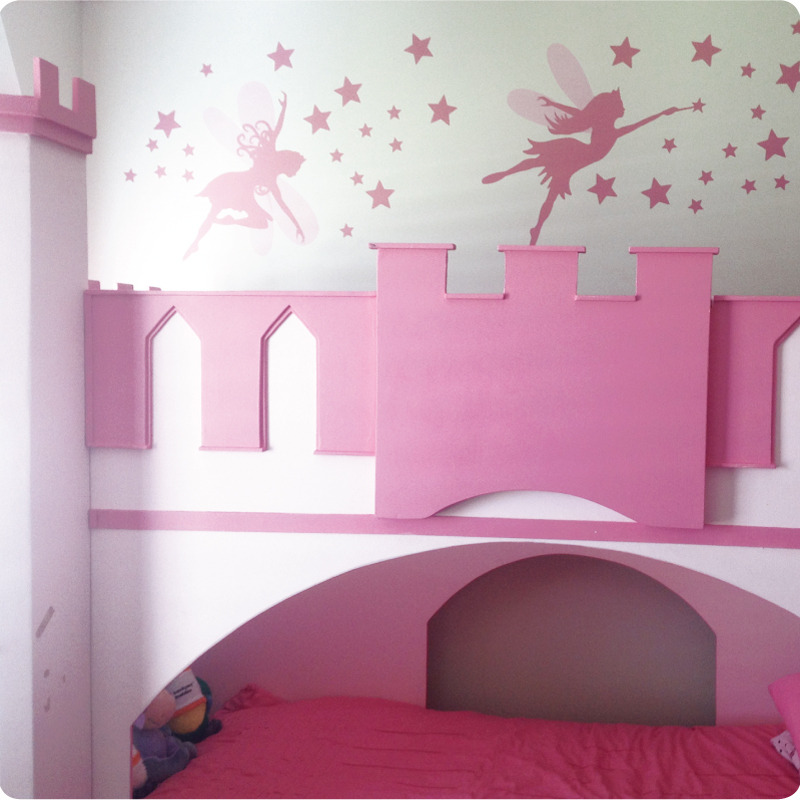 Pretty Fairies Removable Wall Stickers in girl's bedroom