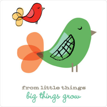 From little things removable wall stickers by Printspace