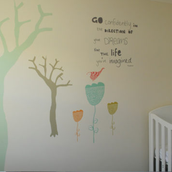 Go confidently removable wall stickers by Printspace in nursery room