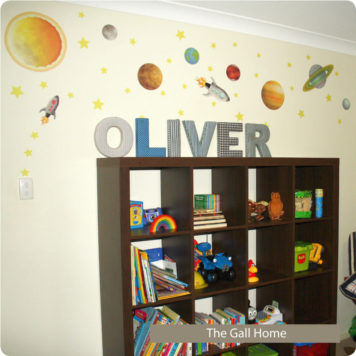 Space removable wall stickers for boys room