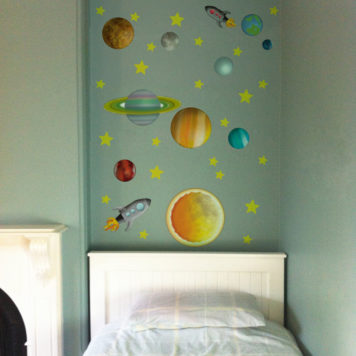 Space Removable Wall Stickers in a child's room