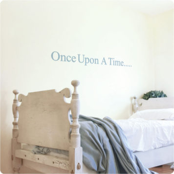 Story wall sticker in a girls bedroom