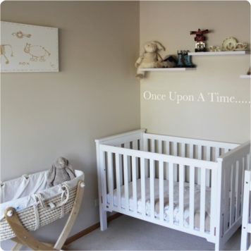 Story wall sticker in a nursery