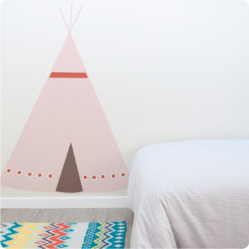 Teepee removable wall stickers in child's room