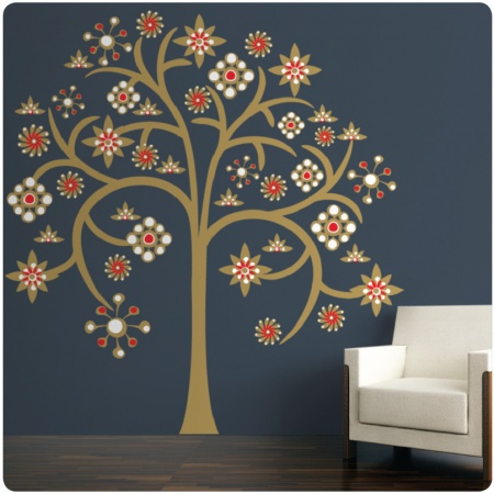 Tree of Life from The Wall Sticker Company beside a chair